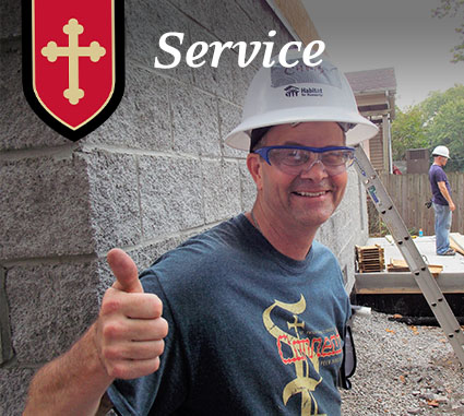 serving others at St. Philip Catholic Church