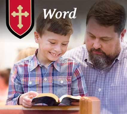 reading the Word at St. Philip Catholic Church