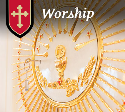 Worshiping at St. Philip Catholic Church